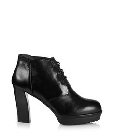 Black leather lace-up ankle boots Sale - Tods Sale