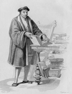 French scholar Guillaume Bude (1467 - 1540), circa 1520. He founded the library at Fontainebleau, which formed the beginnings of the Bibliotheque Nationale in Paris. Engraving by Contenau after a drawing by Dupre. (Photo by Kean Collection/Getty Images)