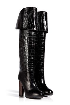 Aperlai Embossed Leather Coco High Boots 2013