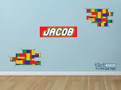 It is no secret that all kids love lego toys. This is the perfect wall sticker set for any Lego themed bedroom. This is a very fun piece of decor that