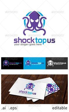 Shocktopus Logo Template