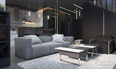 Сучасний інтер'єр квартири  для молодої сім'ї, Estet Interior, Гостиная, Дизайн интерьеров Formo.ua