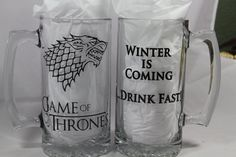 Game Of Thrones Beer Mug Winter Is Coming Beer by BlueKitty2000