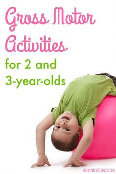 The Inspired Treehouse - These gross motor skills activities are the perfect way to keep 2 and entertained while building important skills like balance and coordination. Activities For 2 Year Olds, Motor Skills Activities, Movement Activities, Toddler Learning Activities, Gross Motor Skills, Therapy Activities, Physical Activities, Preschool Activities, 3 Year Old Preschool