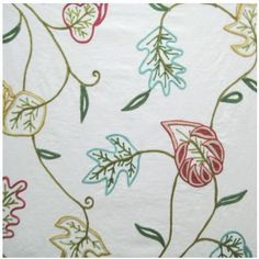 Nissa Wasabi by Studio G 100/% Cotton Trailing Floral Curtain Fabric Green Blue