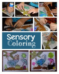 Sensory Tactile Coloring Activity