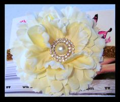 Ivory Flower Girl Headband Flower girl by christiencollection