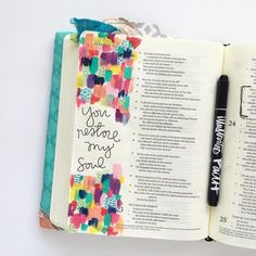 Bible Journaling by @bekahblankenship