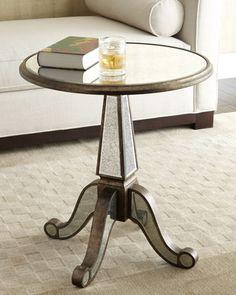Mercury side table. SO cute!