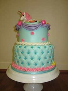 unicorn cake By sweetbrantleys on CakeCentral.com
