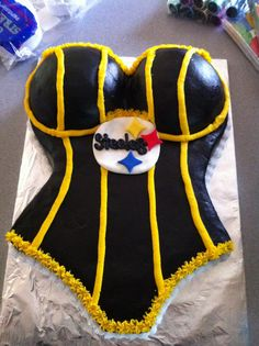 Steelers Cake for his 30th.. Concept by me .. made by The Cake Lady.