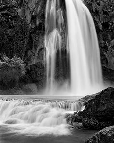 I love waterfalls!  And this is gorgeous black and white. And it was taken by my brother.
