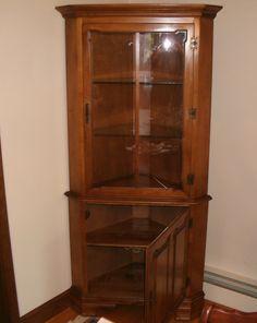 corner hutch furniture makeover eckschrank tischler und vitrine. Black Bedroom Furniture Sets. Home Design Ideas