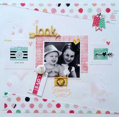 Studio Fourteen40 : LOOK layout by Amanda Baldwin featuring Crate Paper Hello…