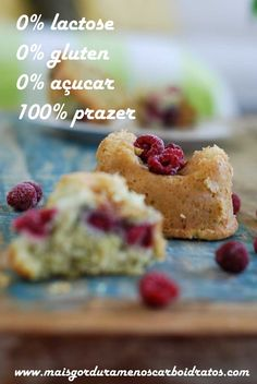 Muffins de coco com framboesa – Sem gluten, sem lactose, sem acucar!