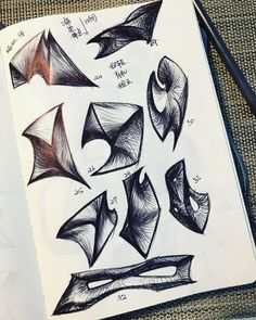 Pen Sketch, Drawing Sketches, Drawings, Sketching, Speed Form, Organic Sculpture, Organic Form, Shape And Form, Drawing Techniques