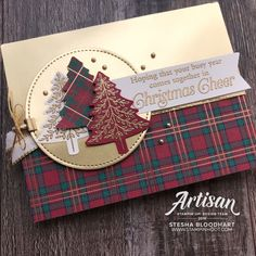 Shop Online for Stampin' Up! Products - Mary Fish, Stampin' Pretty WOW Picks from my Pals Stamping Community. Homemade Christmas Cards, Christmas Cards To Make, Xmas Cards, Homemade Cards, Handmade Christmas, Holiday Cards, Plaid Christmas, Stampinup Christmas Cards, Stampin Up Christmas