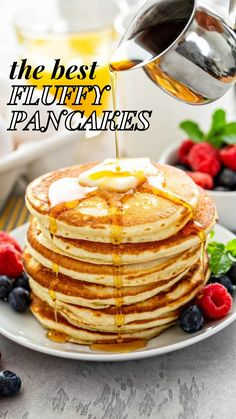 Breakfast Time, Breakfast Dishes, Best Breakfast, Breakfast Recipes, Breakfast Appetizers, Best Homemade Pancakes, Healthy Meals For One, Morning Food, Brunch Recipes