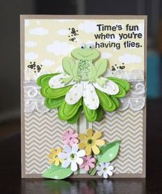 Card designed by Alice Carman with Petaloo Embossed Daisies and Animal Dazzlers from the Floradoodles Collection