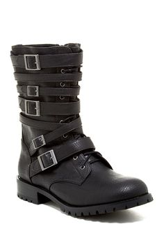 Nasty Gal Lace-Up Buckle Boot