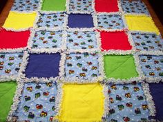 Choo Choo Trains Baby Rag Quilt Baby Quilt $46.00 by LoveableQuiltsNMore