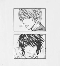 Death Note L and Light Death Note Kira, Death Note Fanart, Death Note Light, Death Note Cosplay, Spooky Tattoos, Note Doodles, Note Tattoo, L Lawliet, Cartoon Wallpaper