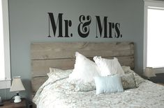Small Version- MR & MRS Vinyl Decal- Master Bedroom Decor, Modern, Sophisticated, Wall Art on Etsy, $24.00