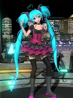 Out of the gravity Miku (actually not MMD)