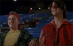 Bill and ted gif Ted Film, Alex Winter, Hold My Hand, Keanu Reeves, Boyfriend, Husband, Adventure, Movies, Films