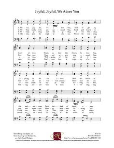 Joyful, Joyful, We Adore Thee - Hymnary.org (good resource of sacred music for ceremony)