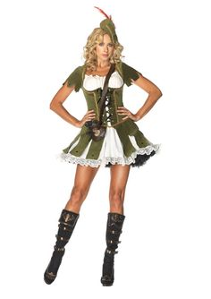 Thief of Hearts Robin Hood Lady Leg Avenue Halloween Costume Medium/Large. Costume includes lace trimmed peasant dress with attached velvet waistcoat, hat, satchel, and corset. Robin Hood Halloween Costume, Halloween Costumes, Halloween Ideas, Adult Halloween, Robin Costume, Pirate Halloween, Party Costumes, Holiday Costumes, Carnival Costumes