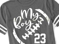 Football Girlfriend Shirts, Sports Mom Shirts, Baseball Shirts, Uk Baseball, Football Boyfriend, Funny Football Shirts, Custom Football Shirts, Cheer Mom Shirts, Soccer Mom Shirt