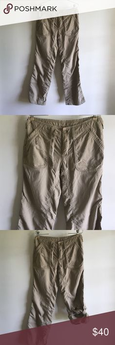 The north face pants sz 8 Use once very good condition can be use as capri or pants  see the pictures The North Face Pants
