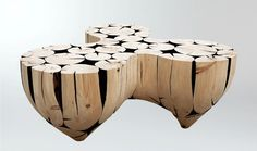 3 Pointed Table by Jaehyo Lee from Logs