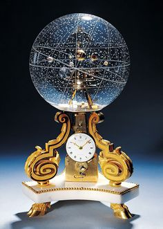 Table Clock with Planetarium, 1770, Paris, France, via Gary Constantine.