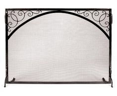Sterling Fire Screen Scroll & Arch