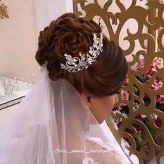 Hairstyles For Layered Hair, Wedding Hairstyles For Long Hair, Up Hairstyles, Braided Hairstyles, Short Bridal Hair, Bridal Hair Buns, Front Hair Styles, Medium Hair Styles, Hair Style Vedio