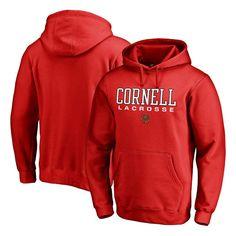 Cornell Big Red Fanatics Branded True Sport Lacrosse Pullover Hoodie - Red