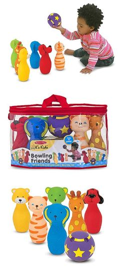{Bowling Friends Preschool Playset} With bright colors, textures, and adorable facial expressions, these endearing toys are sure to strike big at playtime.