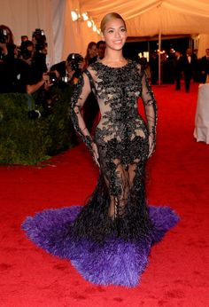 Beyonce in Givenchy at Met Gala 2012