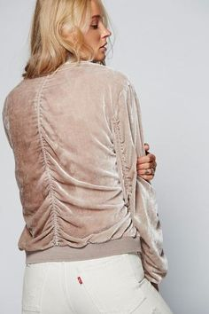 Free People Ruched Velvet Bomber / Prism Boutique