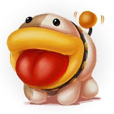 Poochy Doodle by zillabean on DeviantArt Mario And Luigi, Mario Bros, Yoshi's Woolly World, Chalk Design, Super Mario Art, World Wallpaper, Real Dog, Video Game Art, Video Games