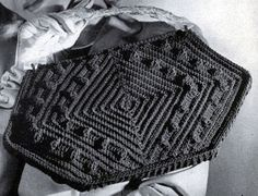 Cordet Bag No. 4807 crochet pattern from Handbags, originally published by Jack Frost Yarn Company, Volume No. 48, from 1945.
