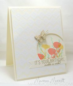 Birthday Card with Circle cut out