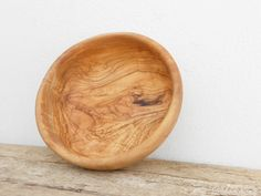 Handcrafted Wooden Salad Bowl 7.8-inch Diameter by TunisiaHandMade