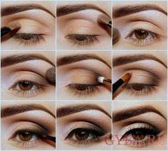 Дневной макияж для карих глаз: полезные советы и фото