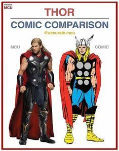 THOR - COMIC COMPARISON