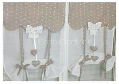 Glass curtains shabby curtains country curtains window curtains Tendine a vetro tende shabby tende country tende finestra Kitchen Curtains, Window Curtains, Glass Curtain, Heart Pictures, Country Curtains, Oven Glove, Window Dressings, Mantle, Special Gifts