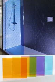 Walk-in Duschwände für modernstes Wohndesign. Die vier neuen Glasfarben Sunset Gold, Desert Sun, Ruby Red und Ocean Blue setzen neuen Akzente. Modern, Bathtub, Colours, Bathroom, Gold, Luxury, Homes, Colors, Standing Bath