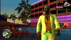 Vic Vance's pastel suit. Fits perfectly with the setting of 1984 Miami (Vice City)